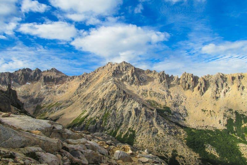 De centrale waaier van de Andes, San Carlos de Bariloche stock afbeeldingen