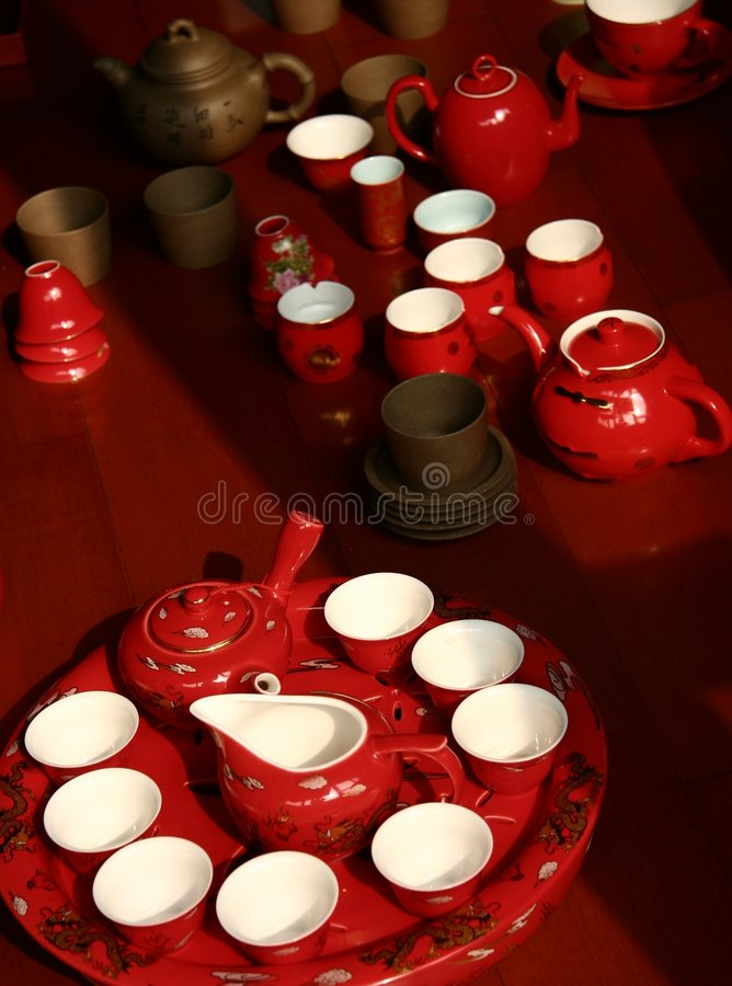 De cerámica rojo de China imágenes de archivo libres de regalías