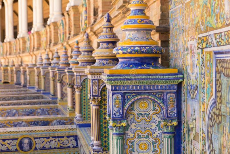 De ceramische decoratie van Sevilla van pleinespana royalty-vrije stock afbeeldingen