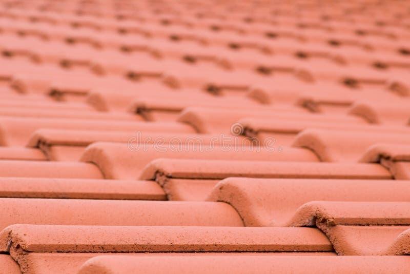 De ceramische textuur van dakwerktegels stock afbeelding