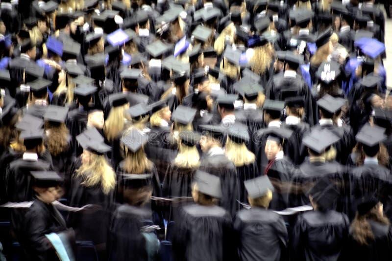 De ceremonie van de graduatie royalty-vrije stock afbeeldingen