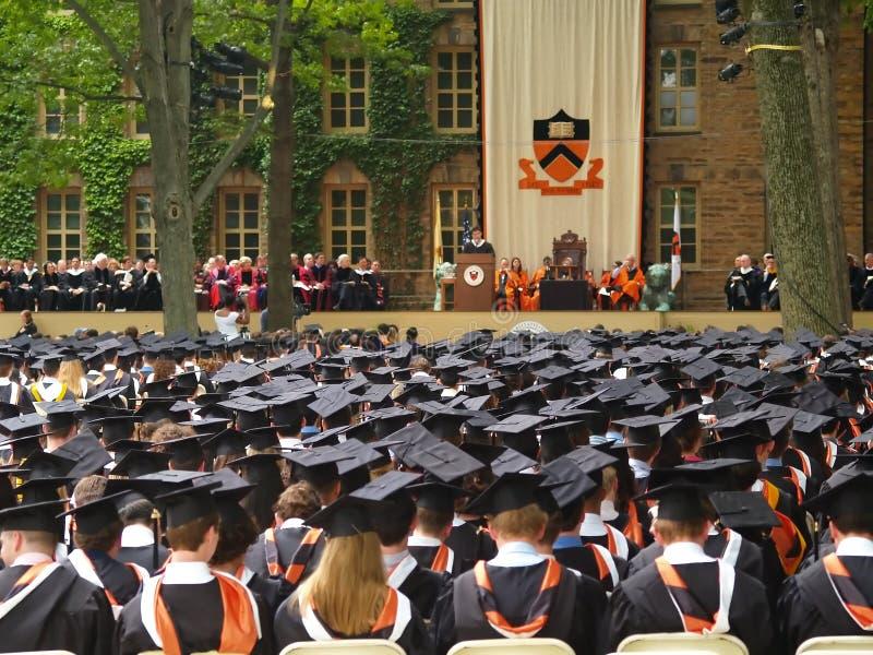 De ceremonie van de Graduatie Princeton stock foto