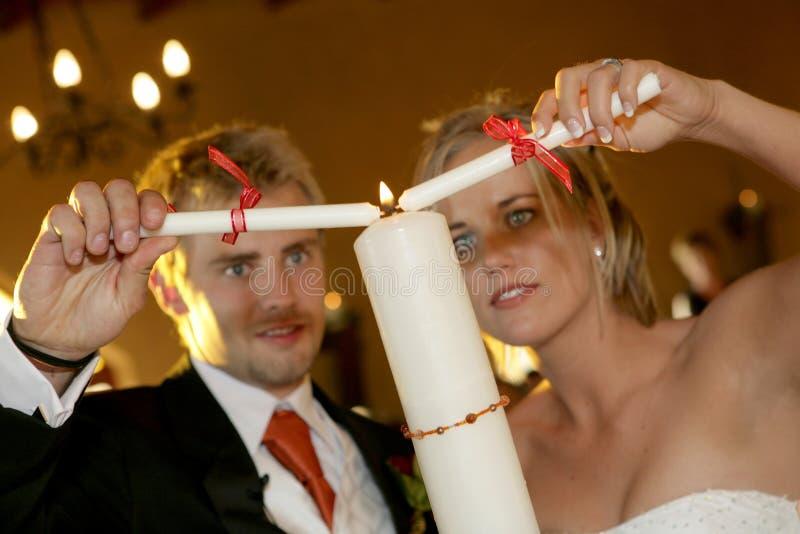De Ceremonie van de kaars stock fotografie