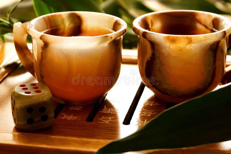 De ceremonie van de thee stock foto