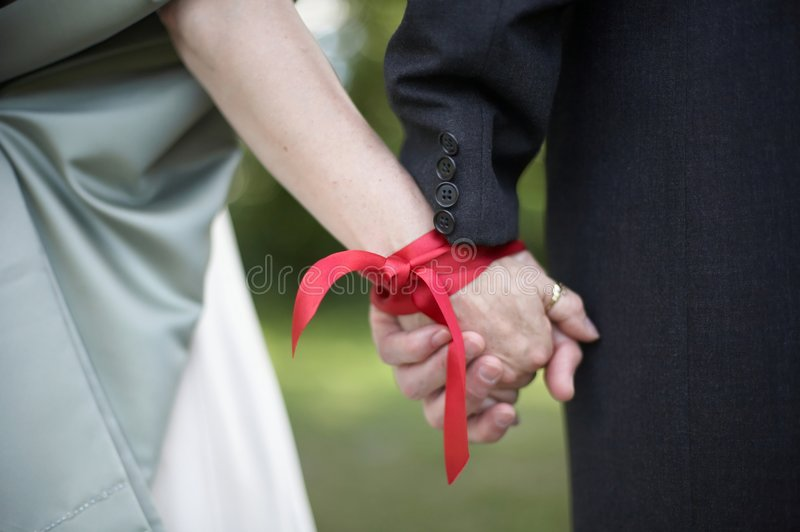De Ceremonie van Handfasting van het huwelijk stock foto's