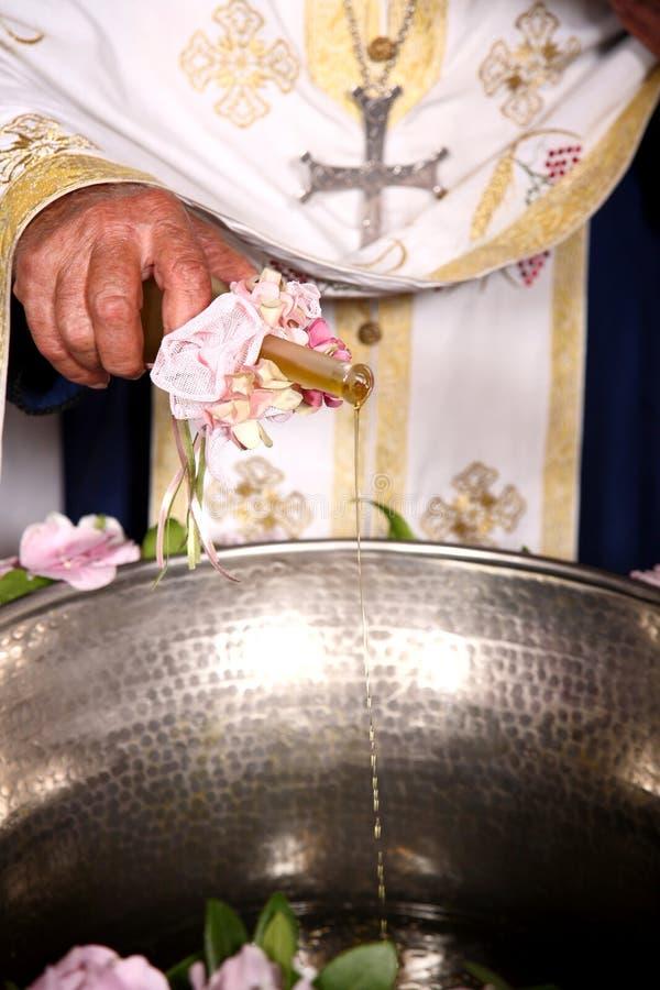 De ceremonie van het doopsel royalty-vrije stock afbeeldingen