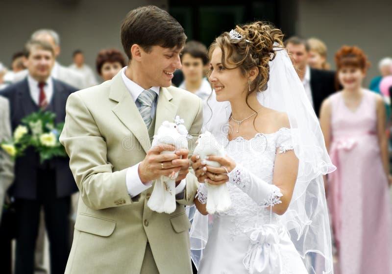 De ceremonie van het huwelijk royalty-vrije stock afbeeldingen