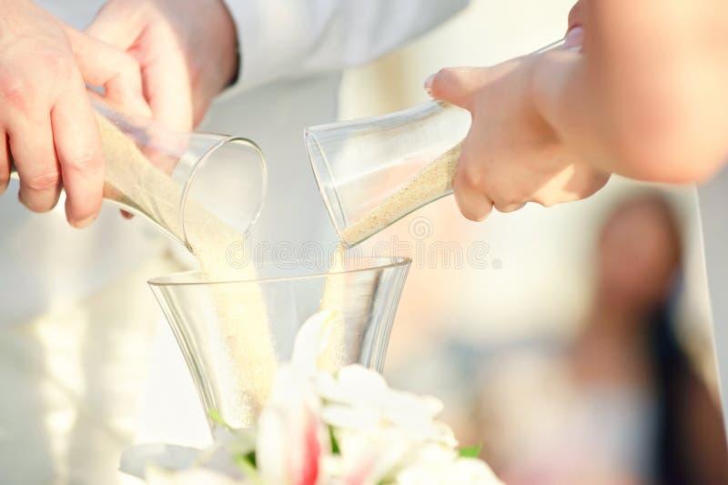 De ceremonie van het huwelijkszand royalty-vrije stock foto