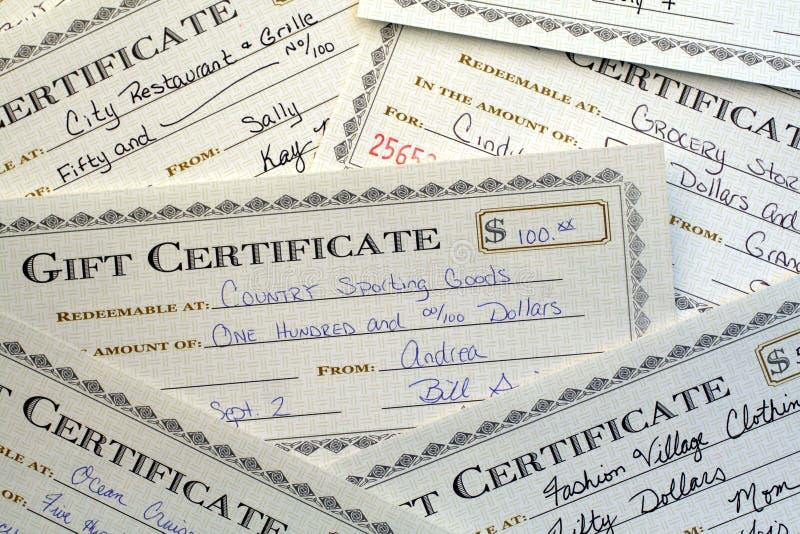 De Certificaten van de gift royalty-vrije stock foto