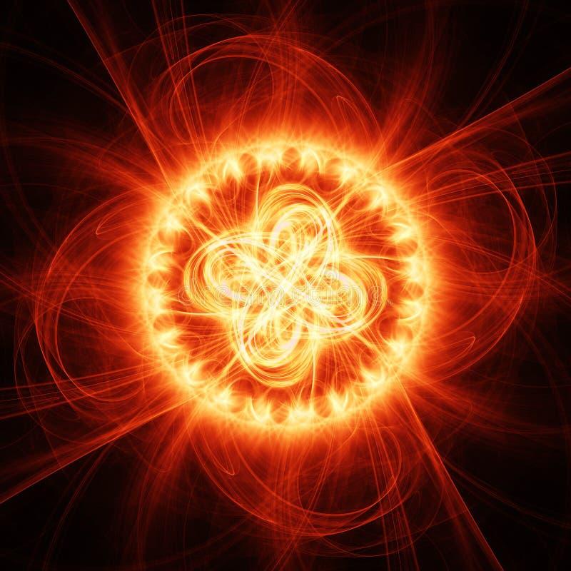 De chaosstralen van de brand vector illustratie
