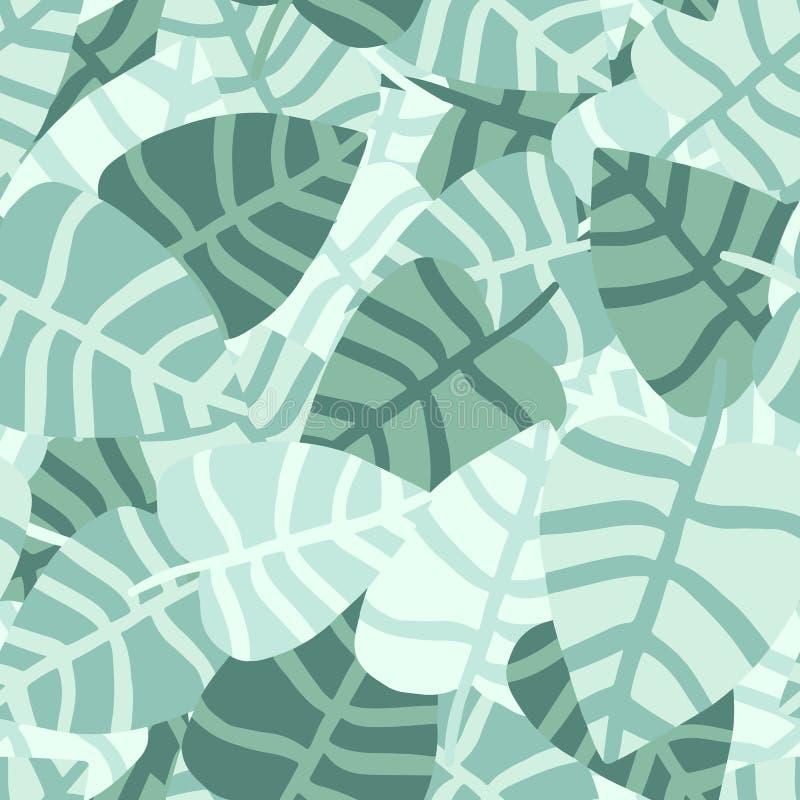 De chaotische hand trekt wildernis naadloos patroon Exotische installatie vector illustratie