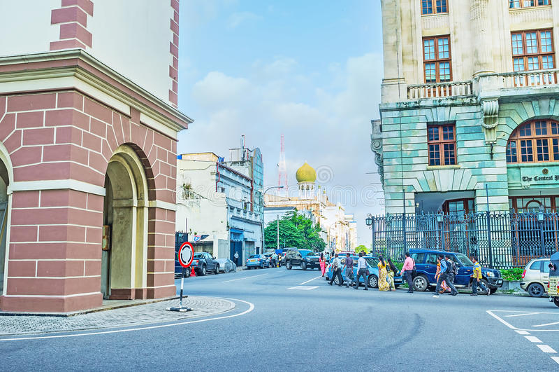 De Chatham-straat in Colombo stock foto