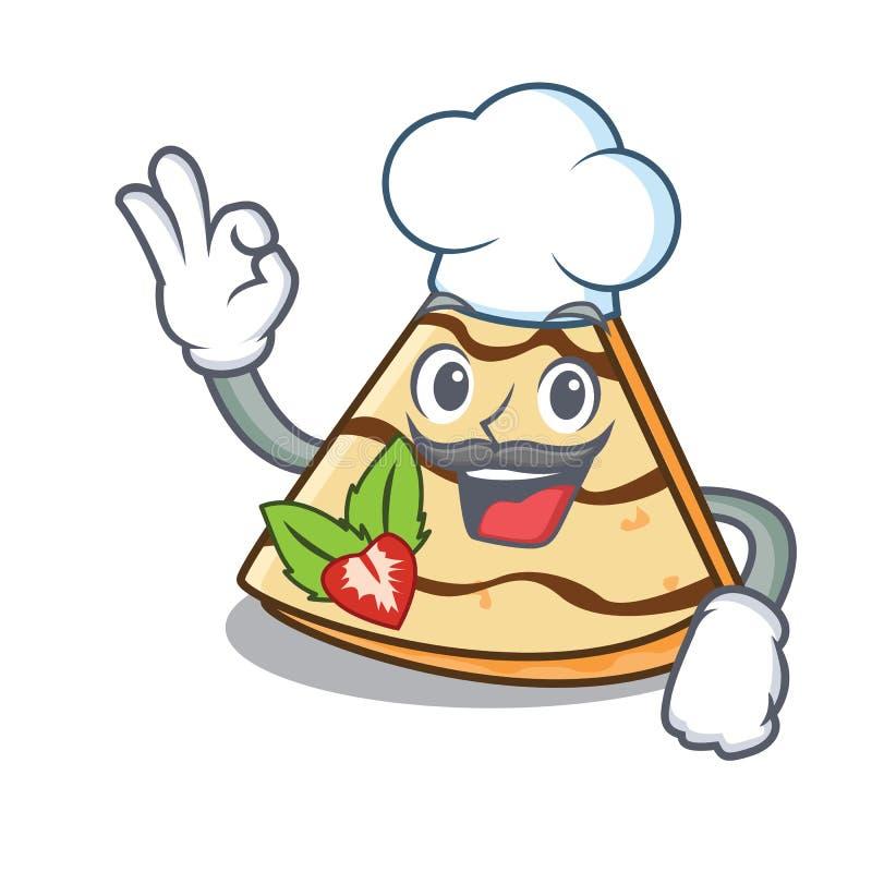 De chef-kok omfloerst de stijl van het karakterbeeldverhaal stock illustratie