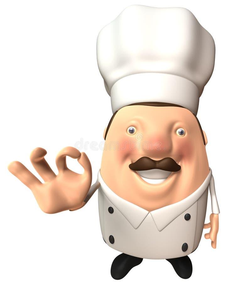 De chef-kok van de pret vector illustratie