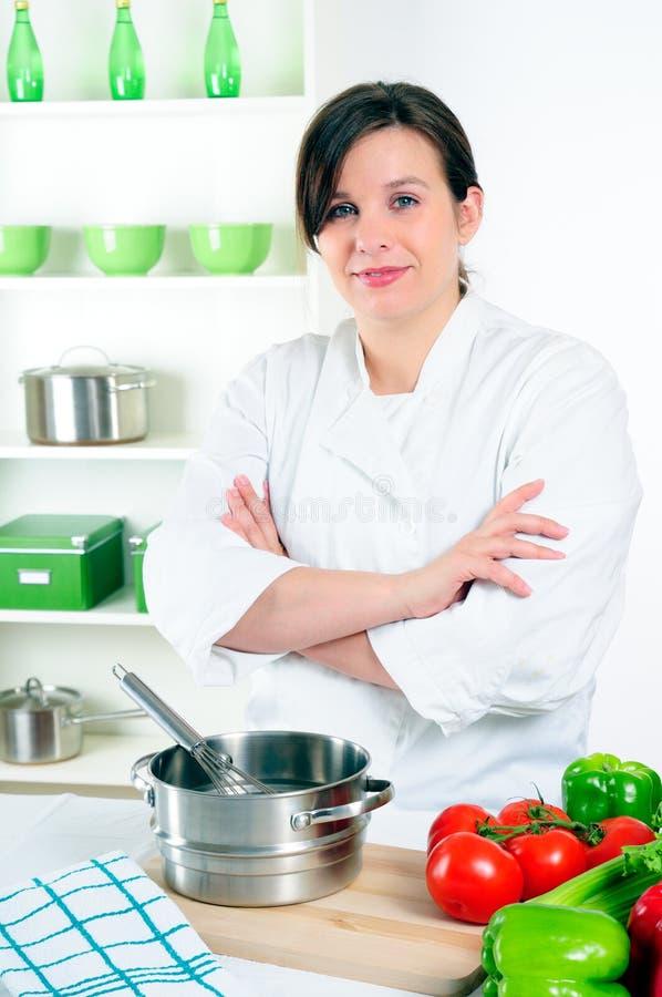 De Chef-kok van de vrouw stock afbeelding