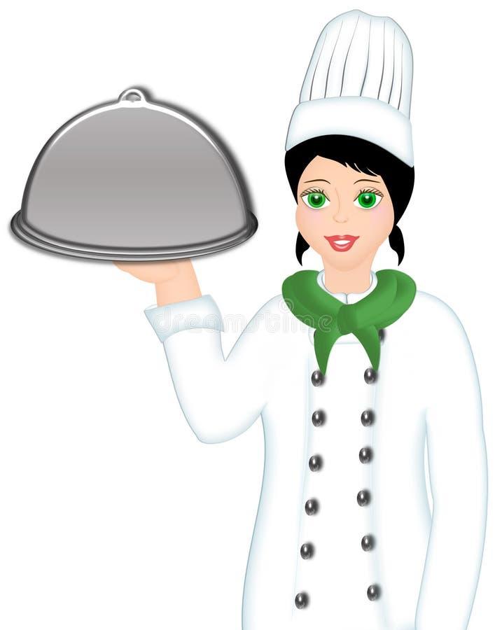 De chef-kok van het beeldverhaal stock illustratie