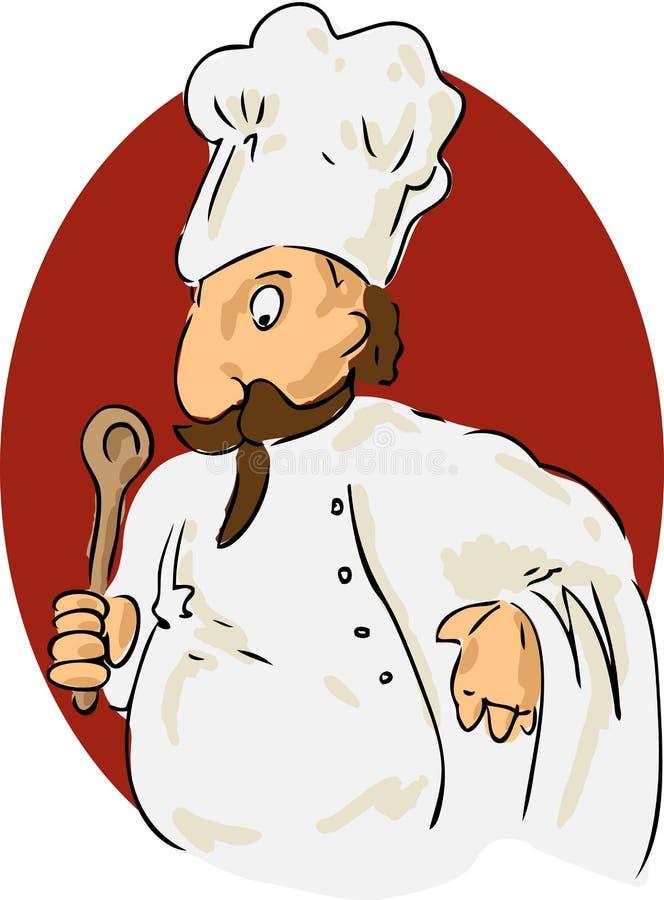 De chef-kok van het beeldverhaal royalty-vrije illustratie