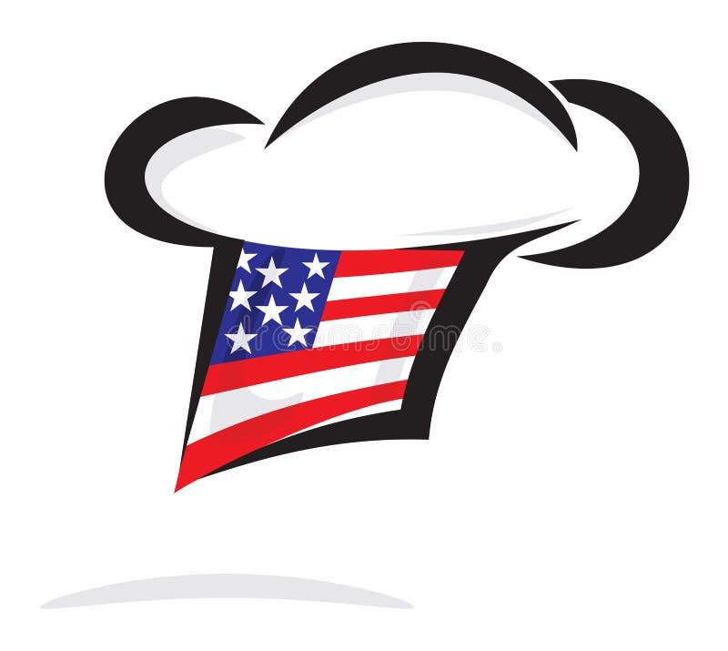 De chef-kokhoed van de V.S. royalty-vrije illustratie