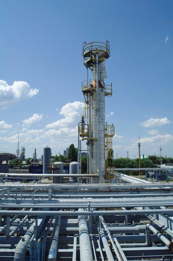 De chemische bouw van de productieinstallatie royalty-vrije stock foto