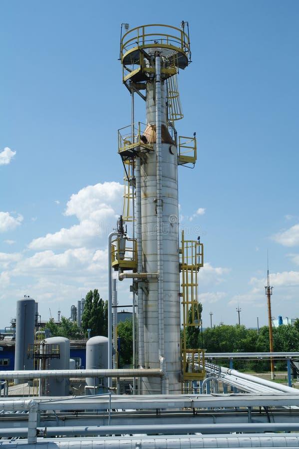 De chemische bouw van de productieinstallatie stock fotografie