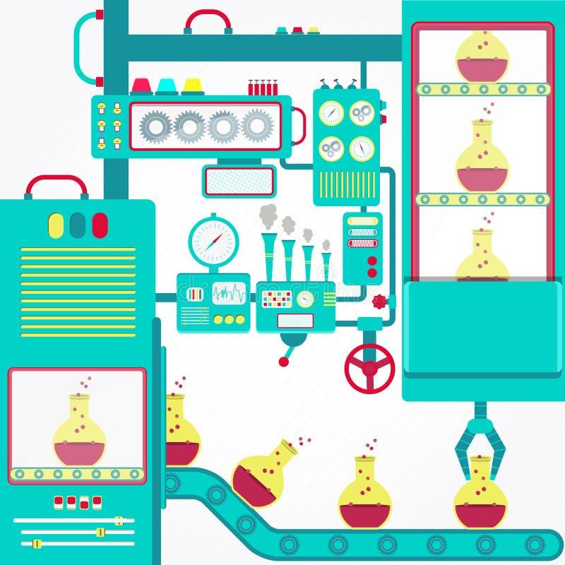 De chemische industrie vector illustratie