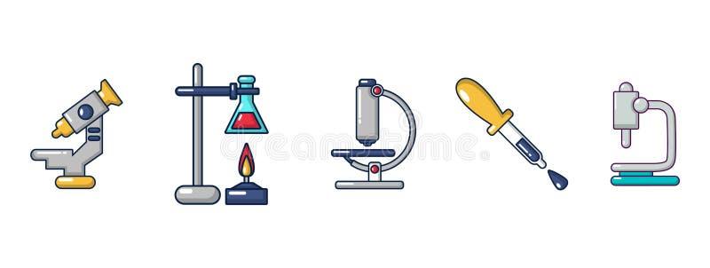 De chemische reeks van het hulpmiddelenpictogram, beeldverhaalstijl royalty-vrije illustratie