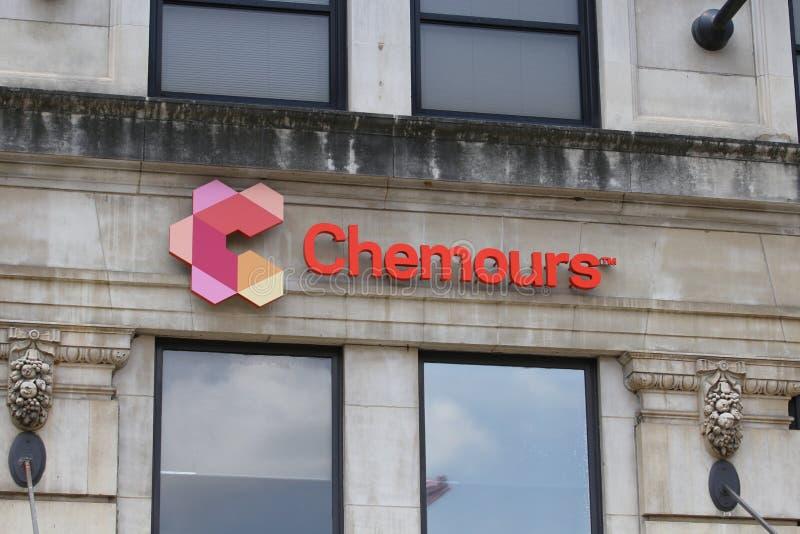De Chemours Företag högkvarteren royaltyfri fotografi