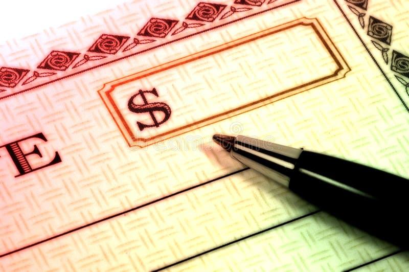 De Cheque van de gift royalty-vrije stock afbeeldingen