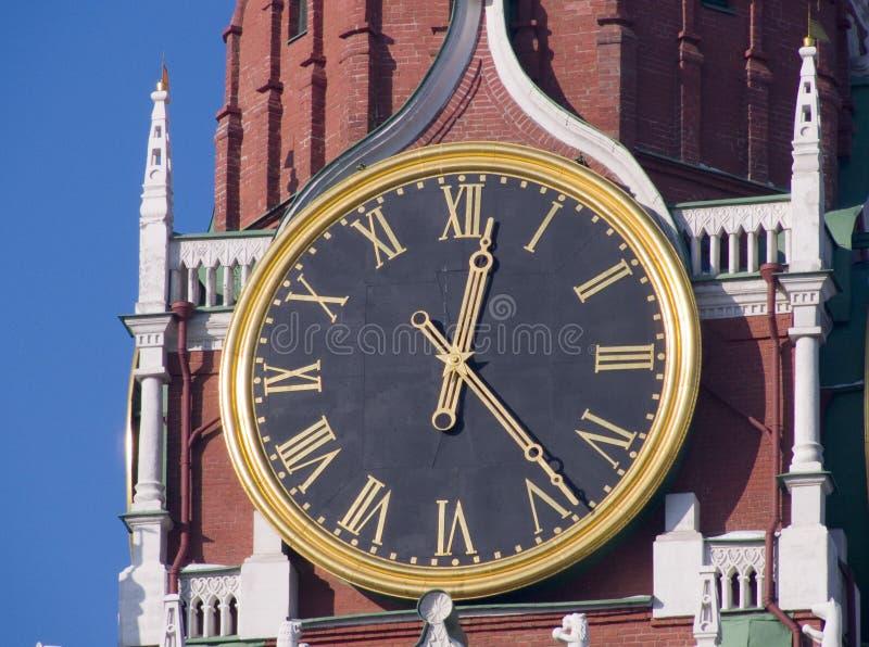 De chiming klok van Moskou stock afbeelding