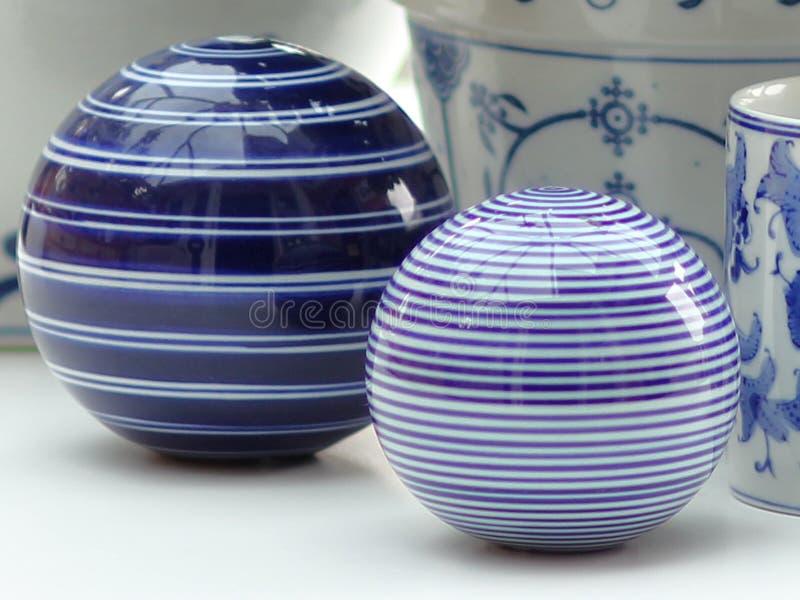 De China todavía de las bolas vida azul y blanca fotos de archivo libres de regalías