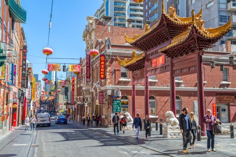 De Chinatown van Melbourne stock foto