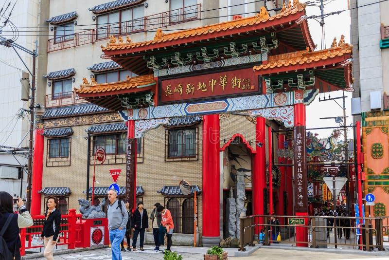 De Chinatown van Nagasaki royalty-vrije stock afbeelding