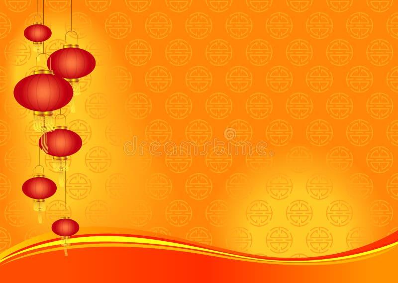 De Chinese Achtergrond van de Dag van het Nieuwjaar vector illustratie