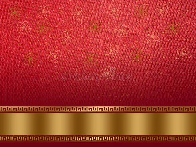 De Chinese Achtergrond van het Nieuwjaar stock fotografie