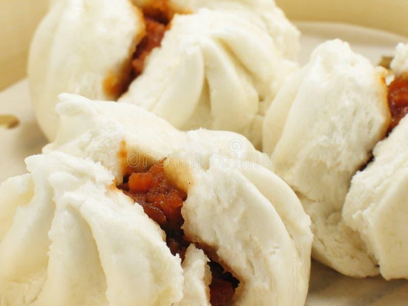 De Chinese BBQ Broodjes van het Varkensvlees stock foto
