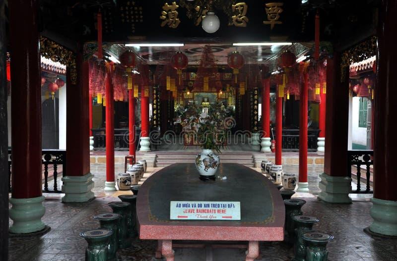 De Chinese Pagode van de Montagehal, Hoi, Vietnam stock foto's