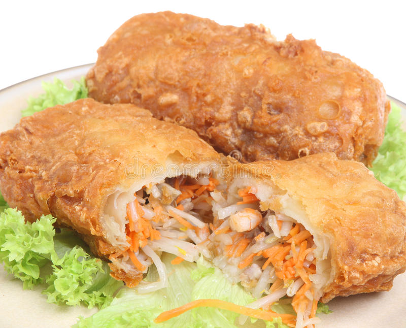 De Chinese Broodjes van de Lente stock foto