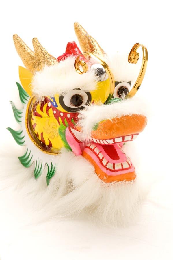 De Chinese Decoratie van de Draak van het Nieuwjaar op Wit. royalty-vrije stock afbeelding