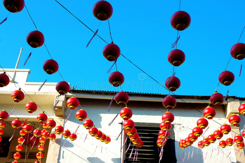 De Chinese decoratie van het festivalhuis stock foto's