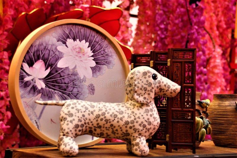 De Chinese Decoratie van het Nieuwjaar in Winkelcomplex royalty-vrije stock foto's