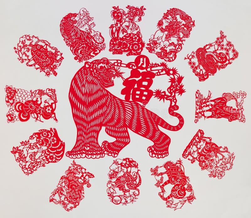 De Chinese Dierenriem royalty-vrije stock foto's