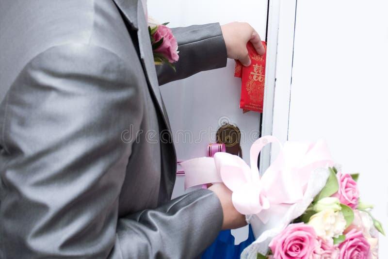 De Chinese Douane van het Huwelijk stock afbeeldingen