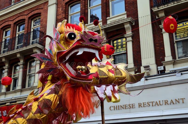 De Chinese Draak van het Nieuwjaar royalty-vrije stock afbeeldingen