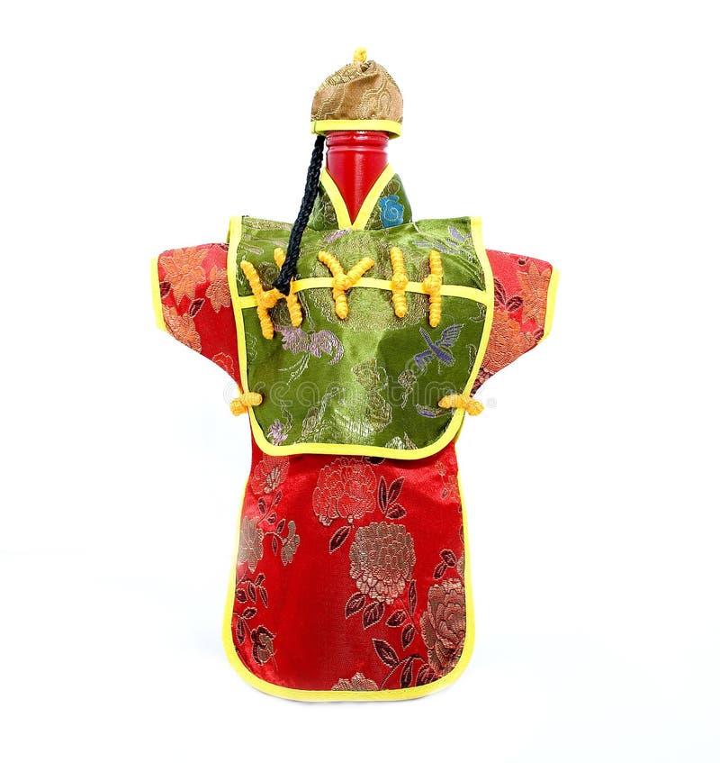 De Chinese Fles van de Wijn van de Kimono royalty-vrije stock foto
