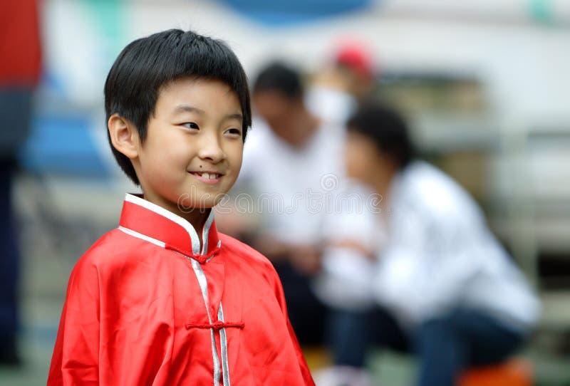 de Chinese kinderen glimlachen royalty-vrije stock afbeelding