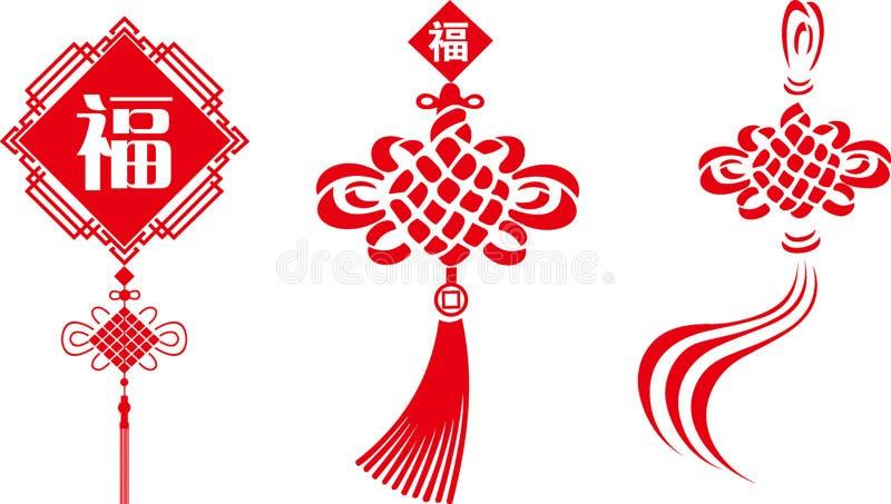 De Chinese knoop van vectoren