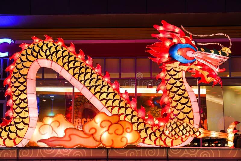 De Chinese lantaarn van de Draak royalty-vrije stock foto