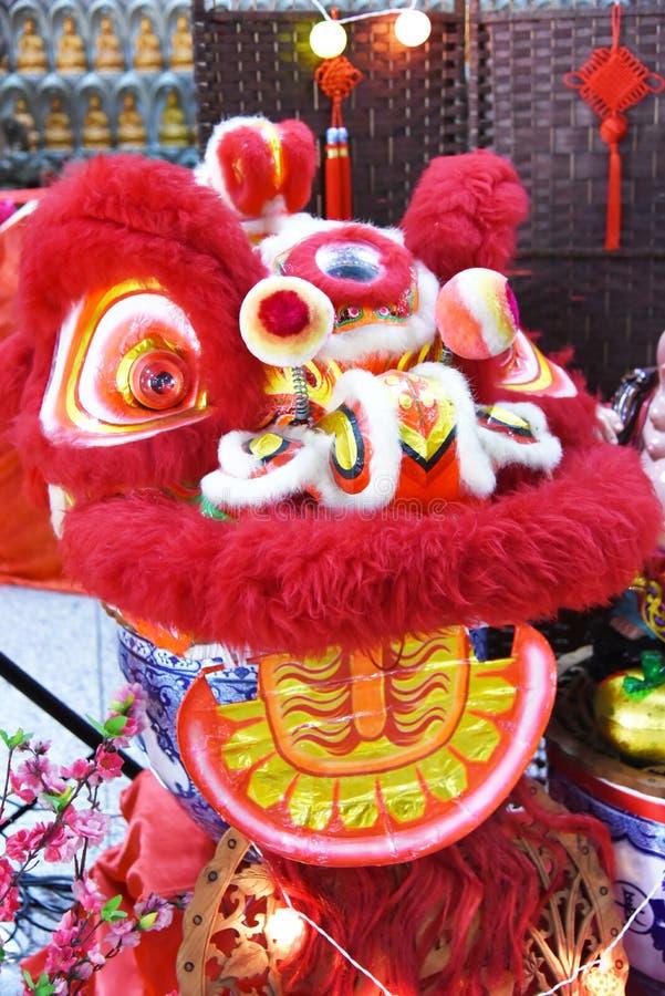 De Chinese Leeuw van het Nieuwjaar royalty-vrije stock afbeelding