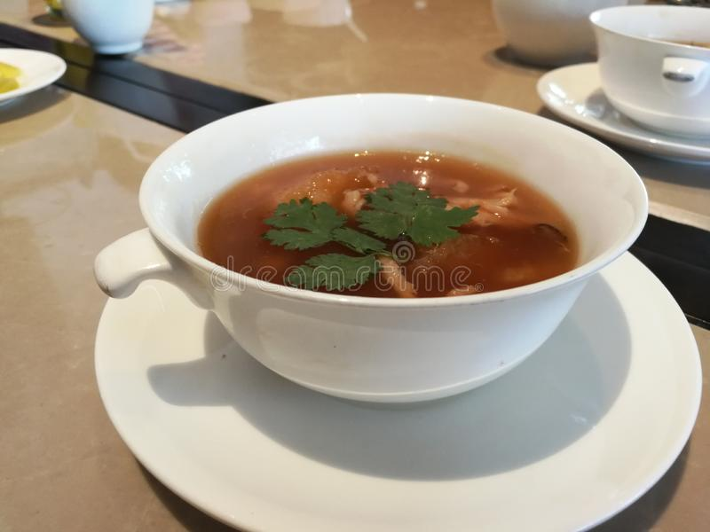 De Chinese lunch is de Soep van vraagsichuan royalty-vrije stock fotografie