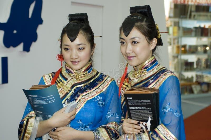 De Chinese Markt van de Cultuur - traditioneel kostuum royalty-vrije stock fotografie